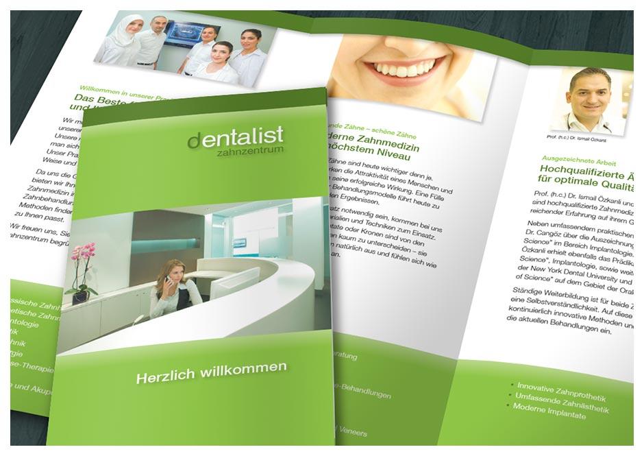 Detail Zahnarzt-Flyer Dentalist, Berlin