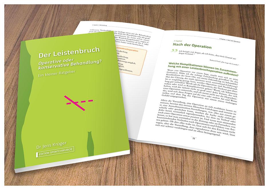 """Buchgestaltung Medizinisches Fachbuch """"Der Leistenbruch"""""""