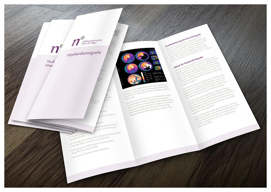 Diverse Flyer (Broschüren) für Dr. Nagel, Arzt-Praxis für Nuklearmedizin