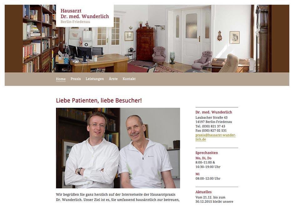 Homepage Hausarzt Dr. med. Wunderlich