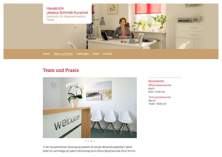 Website Hausarztpraxis Teltow